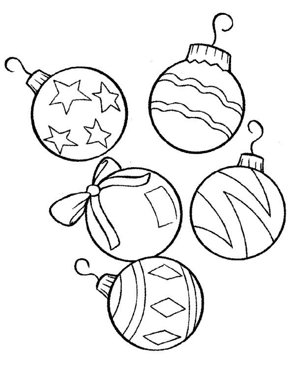 christmas tree ornaments coloring pages for kids | Printable Christmas Ornaments For Kids - Coloring Home