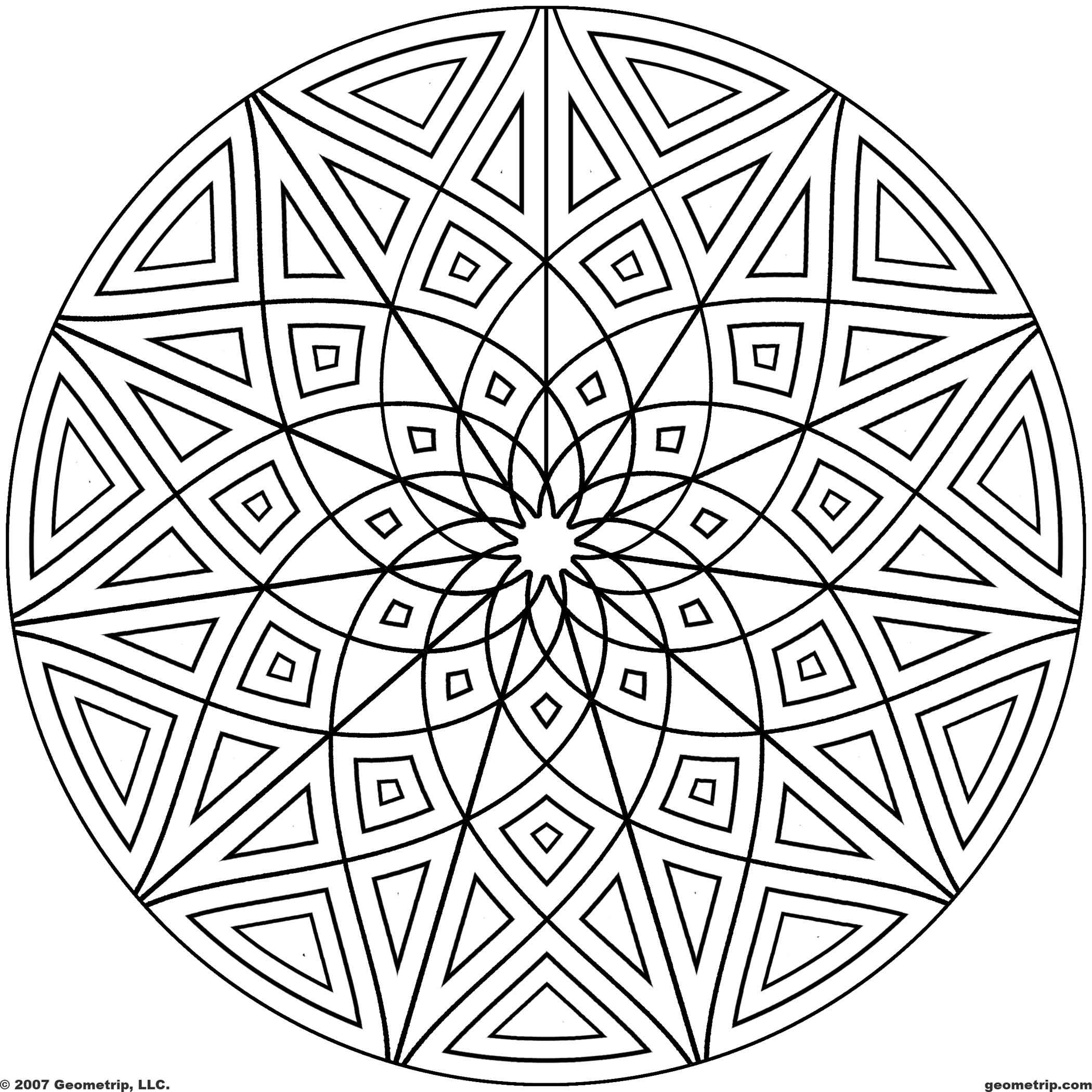 Geometric Shape Coloring Pages - Coloring Home