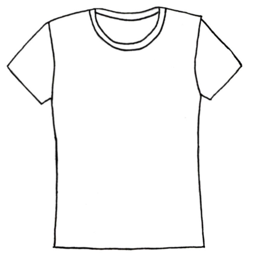 T Shirt Coloring Page Coloring Home T Shirt Coloring Page
