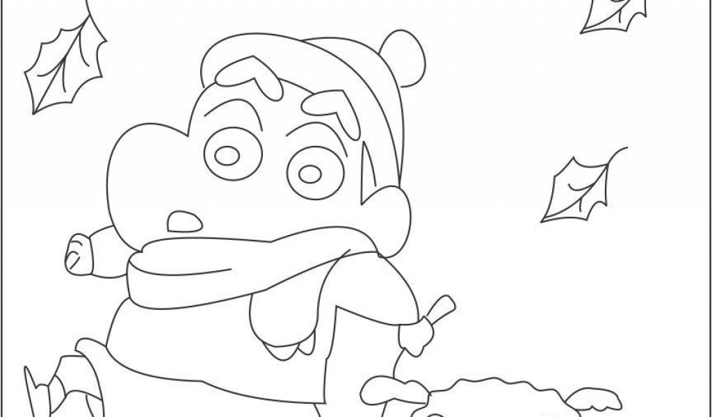 shin chan coloring pages print - shin chan coloring page coloring home