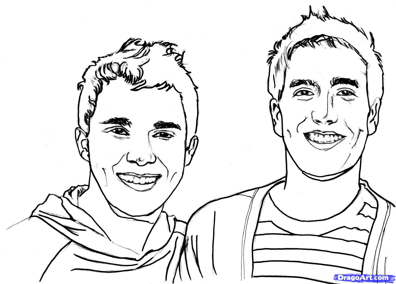 big time rush coloring pages - photo#2
