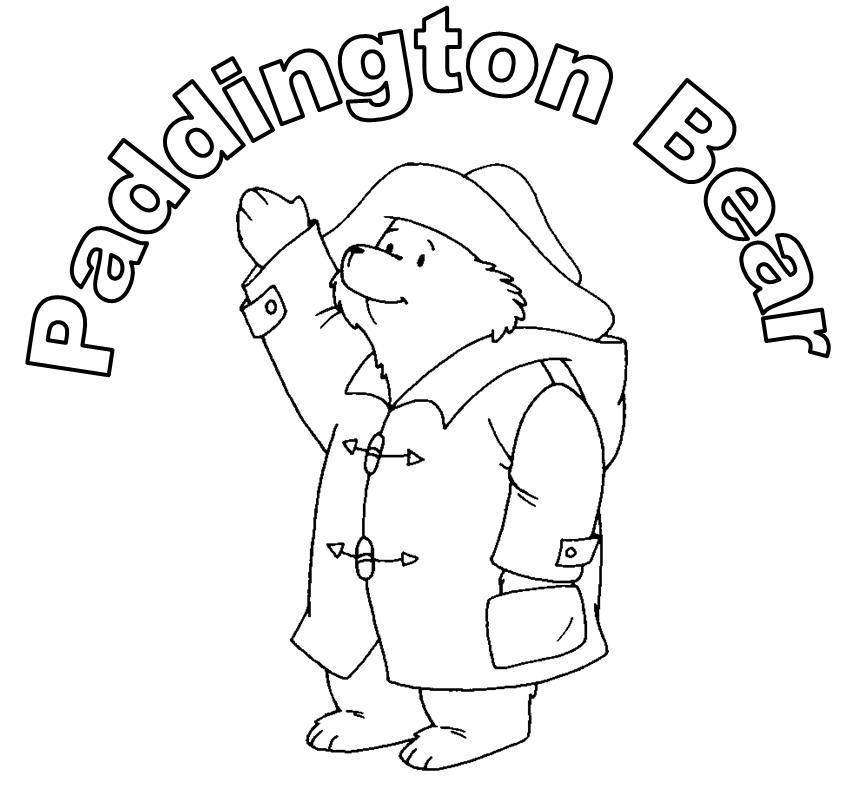 free coloring pages paddington bear movie | Paddington Bear Coloring Pages - Coloring Home