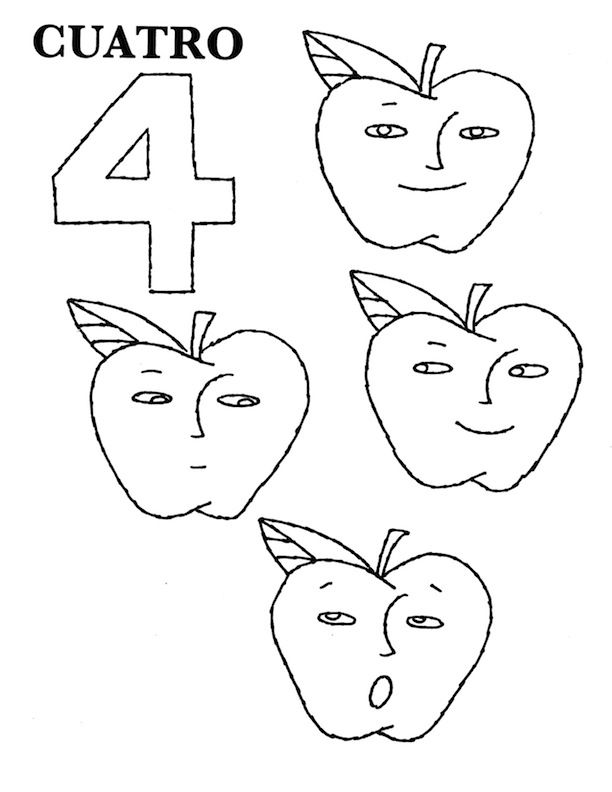 Number Coloring Pages 1 20