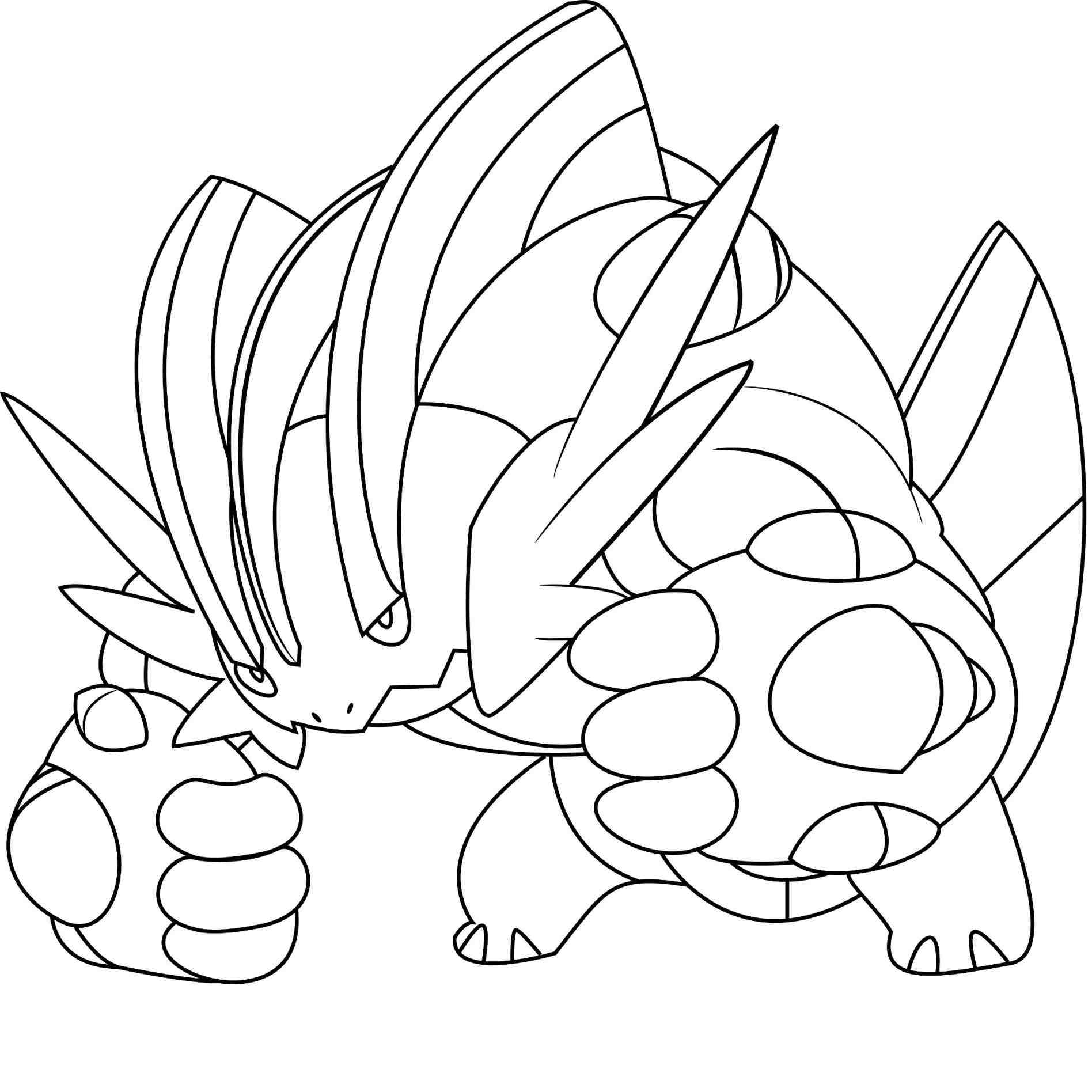pokemon mega groudon coloring pages - anime pictures