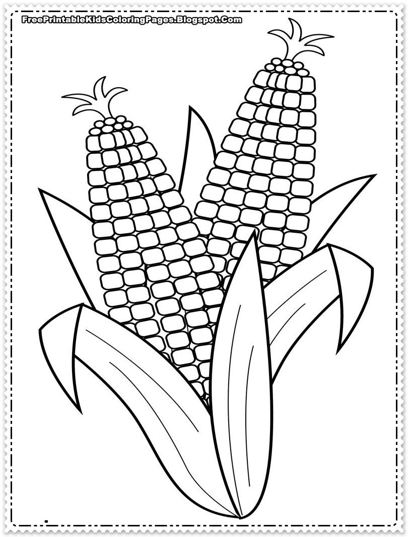 Corn Coloring Pages Printables Printable Free