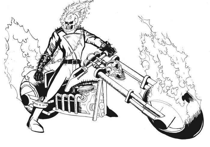 Education Ghost Rider Coloring Pages To Download And Print