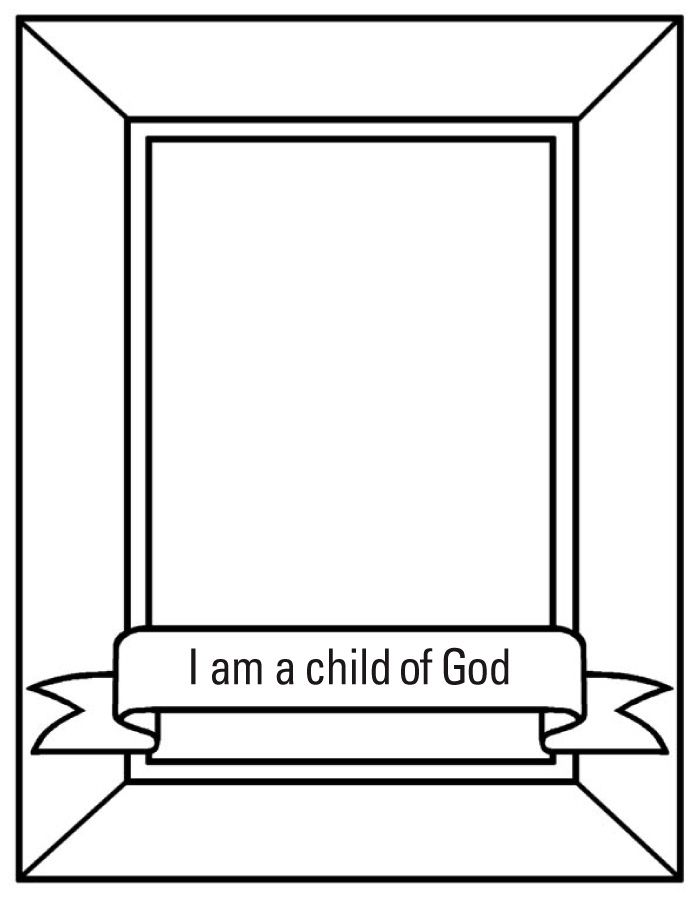 Free Download God Made Me Coloring Page