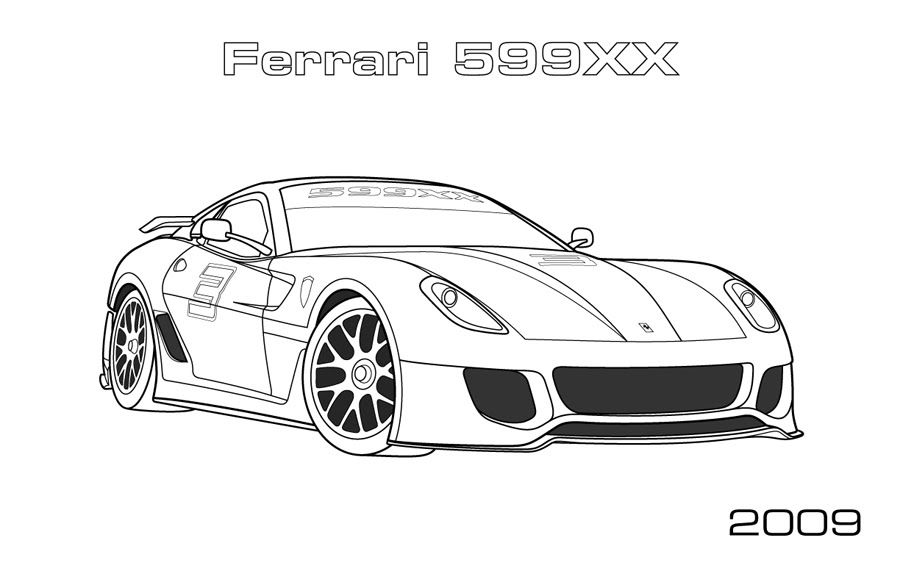 ferrari coloring pages | Only Coloring Pages