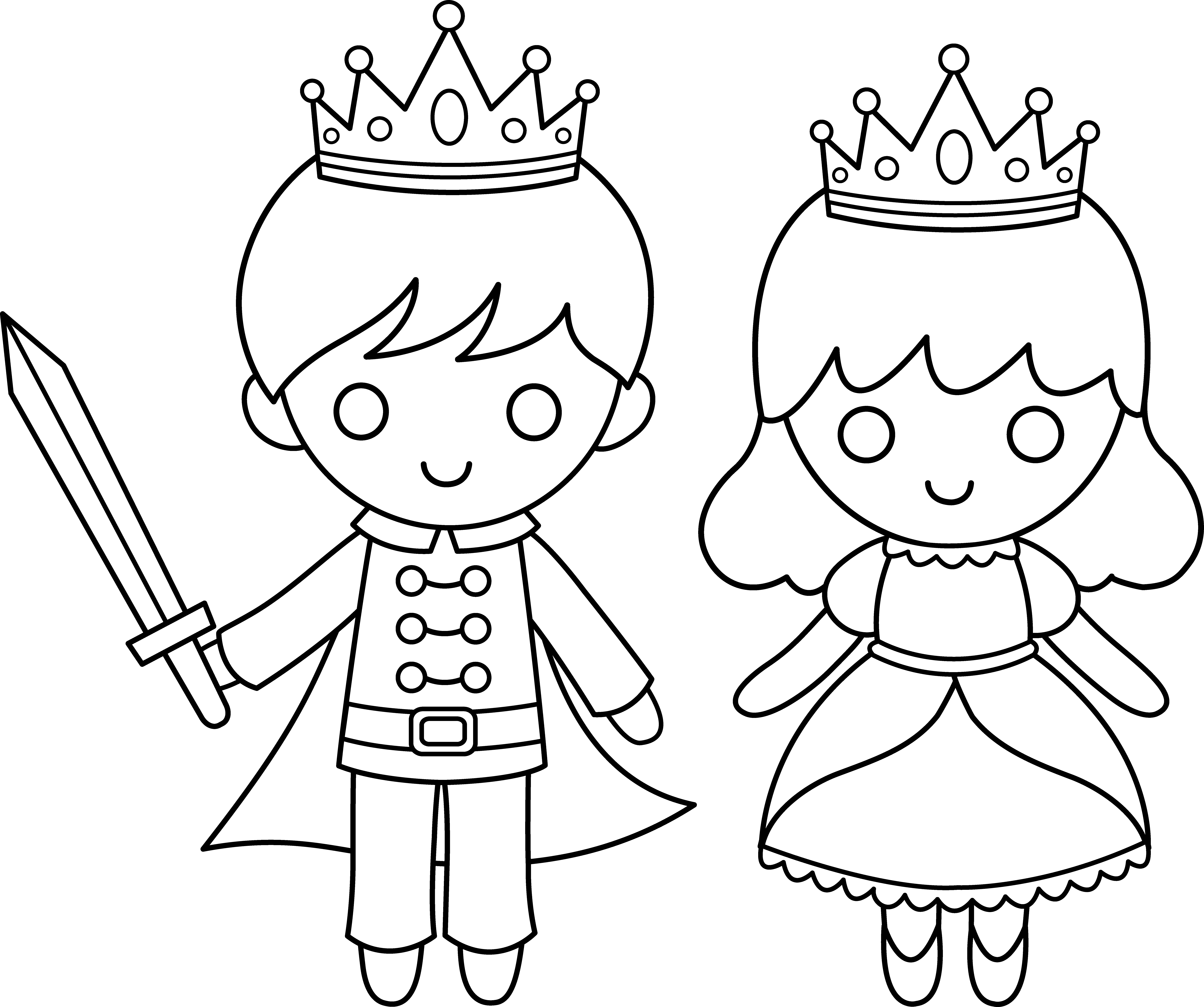 Princess amp Prince Coloring Pages