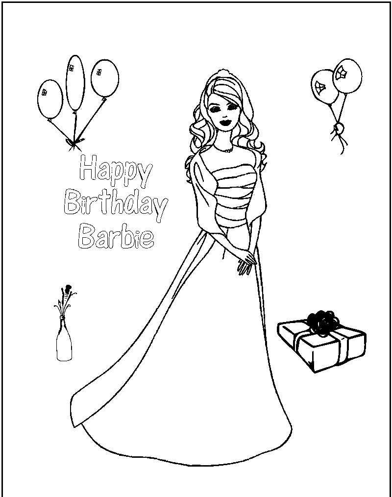 birthday coloring pages free coloring home