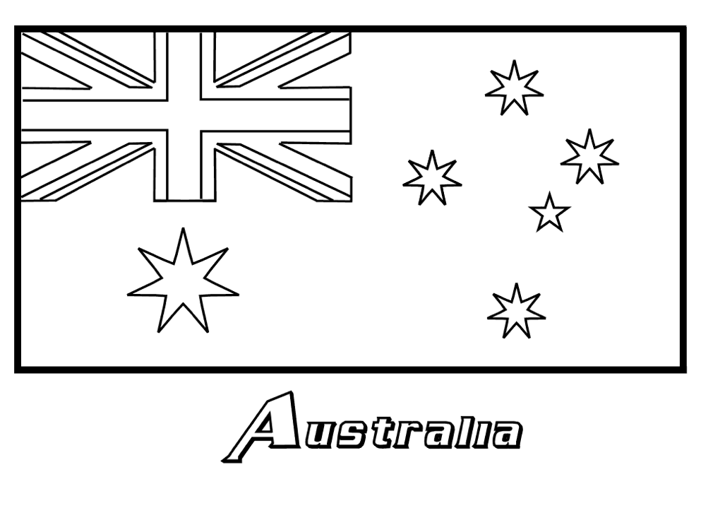 Australia Coloring Page Coloring Home