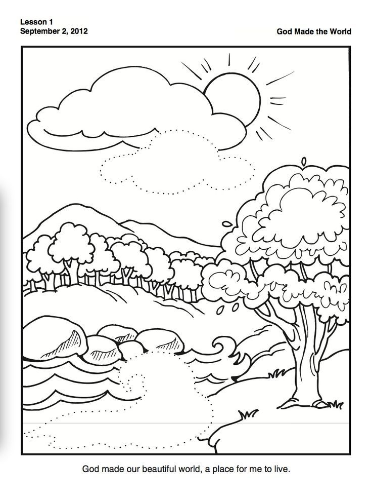 god made coloring pages - photo#32