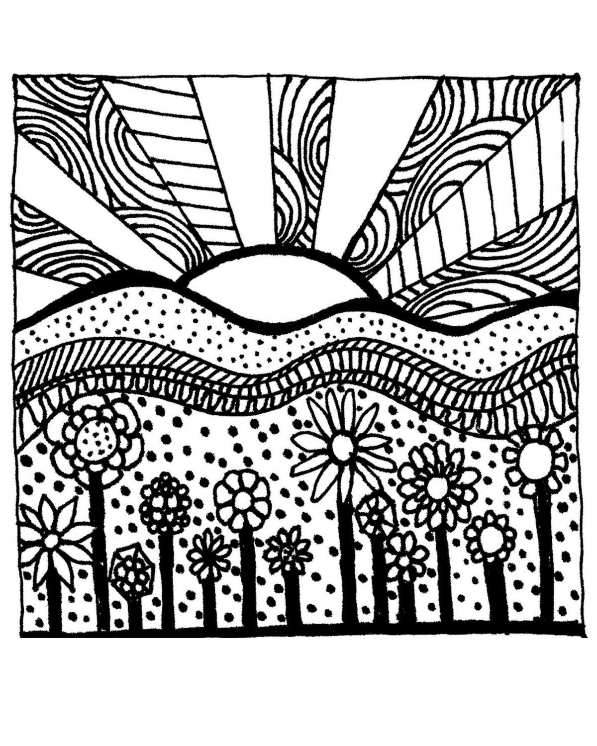 Abstract To Print - Coloring Pages for Kids and for Adults