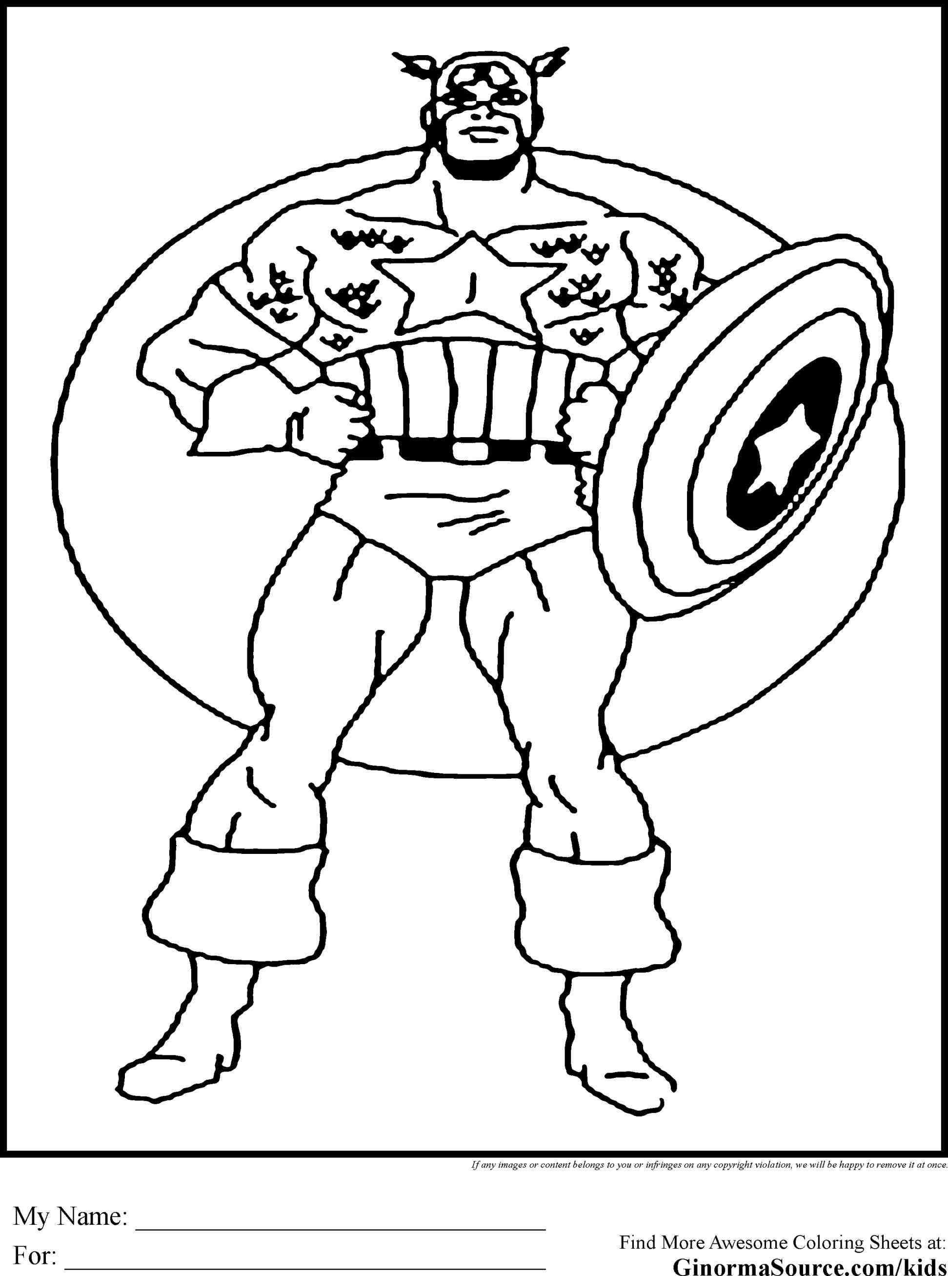 Captain America Face Coloring Pages - Coloring Home