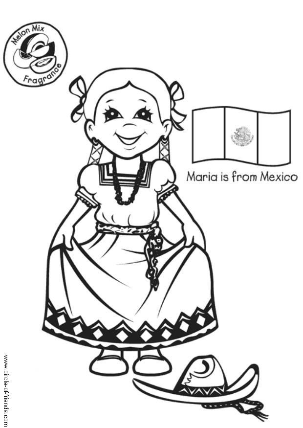 Mexico beach coloring page coloring home for Mexican coloring pages for adults
