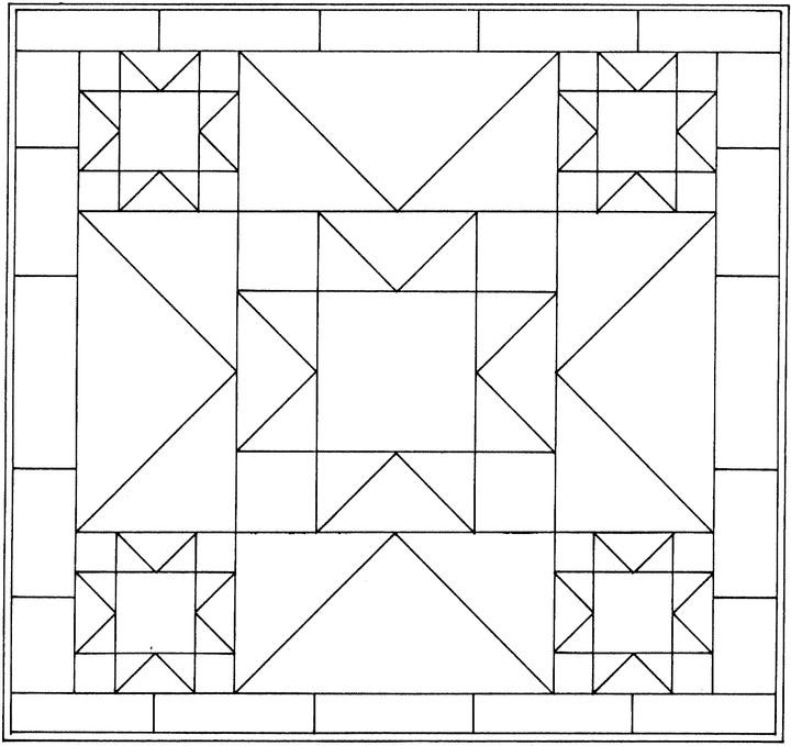easy geometric design coloring pages - photo#11