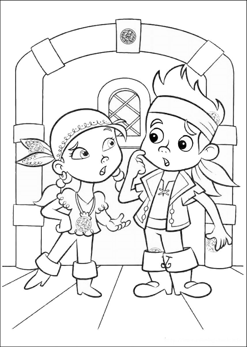 Jake And The Never Land Pirates Coloring Pages Birthday