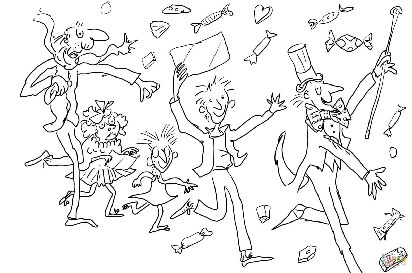 Charlie And The Chocolate Factory Coloring Page Free Printable Coloring Home