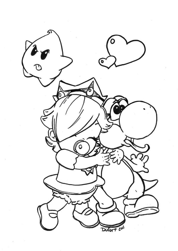Baby Rosalina - Coloring Pages for Kids and for Adults