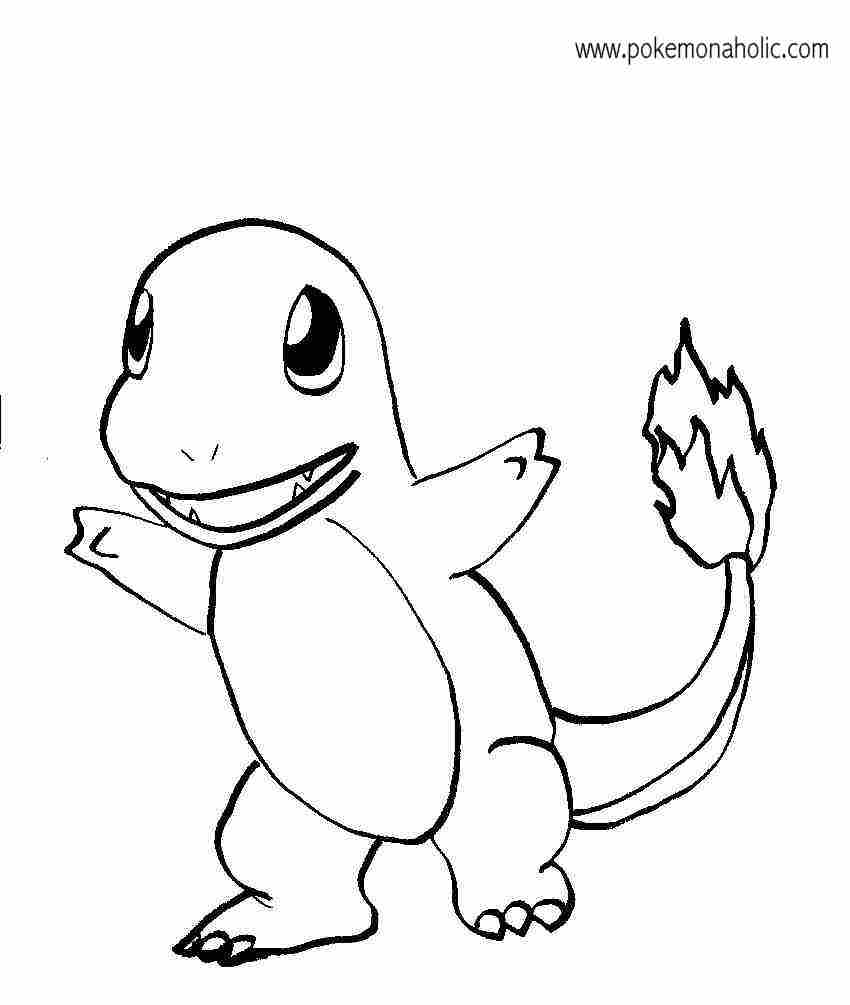 Pokemon Mega Evolution Kleurplaten Charmander Coloring Page Coloring Home