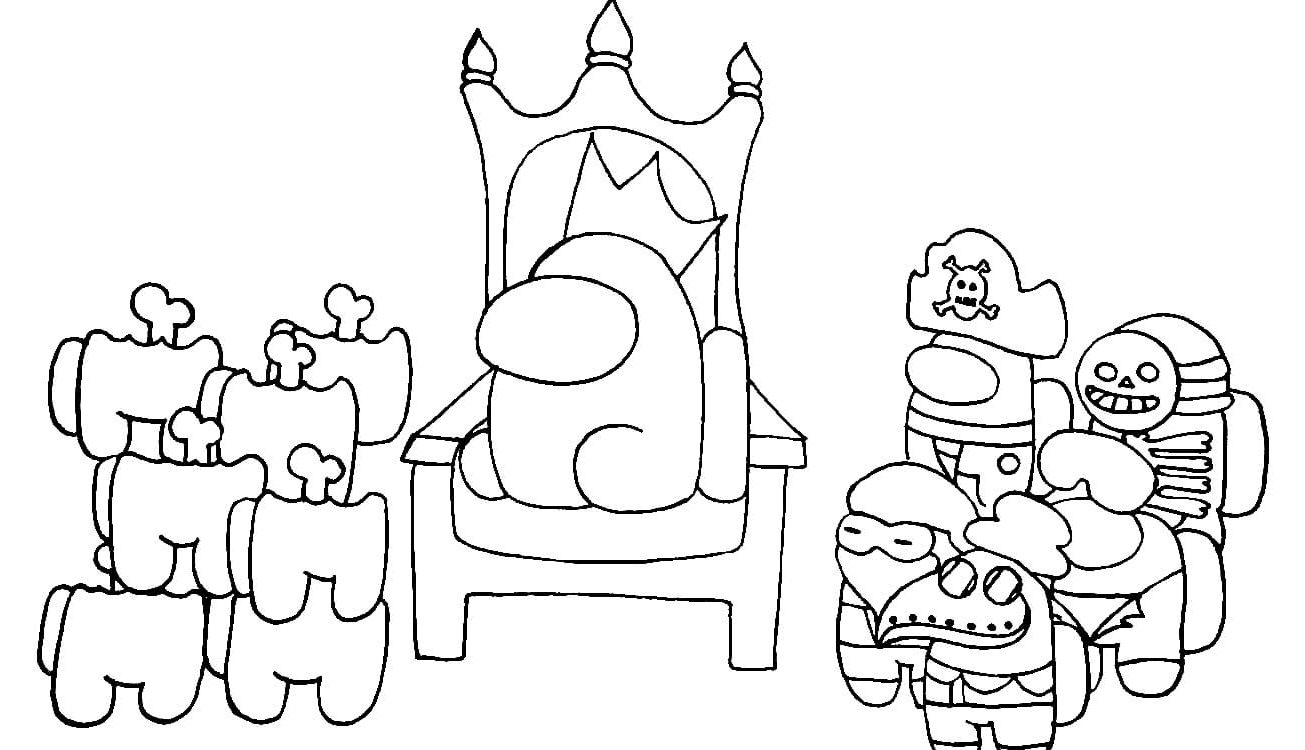 Among Us Coloring Pages - 1NZA