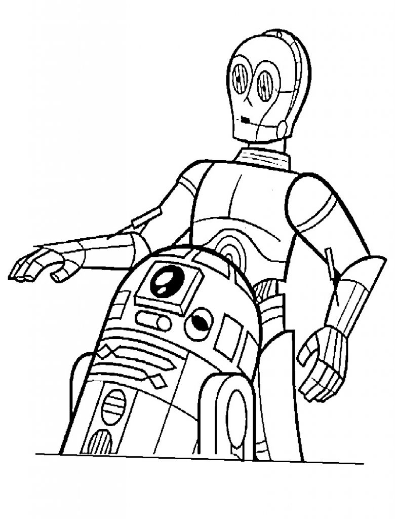 Free Collection of r2d2 Coloring Pages | Coloring Pages Library