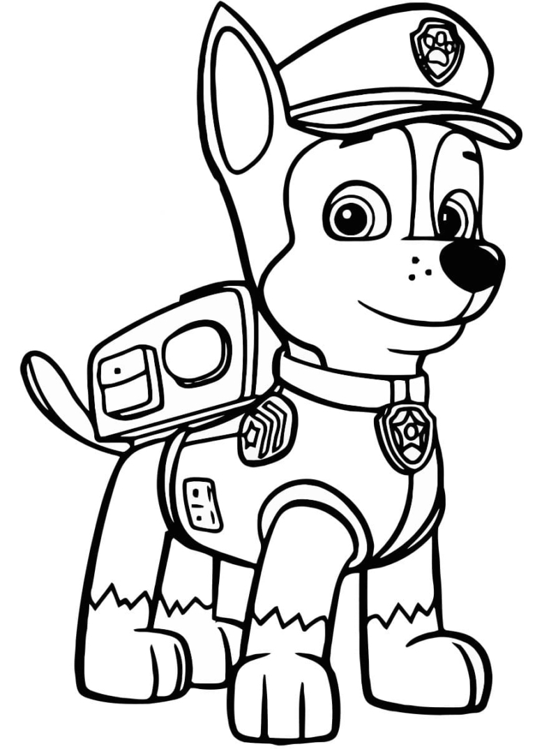 Paw Patrol Halloween Coloring Pages - Coloring Home