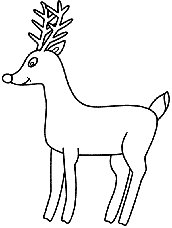 Rudolph the Red Nosed Reindeer - Coloring Page (Christmas)
