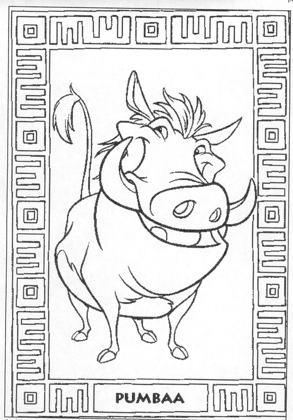 Disney The Lion King Coloring Pages