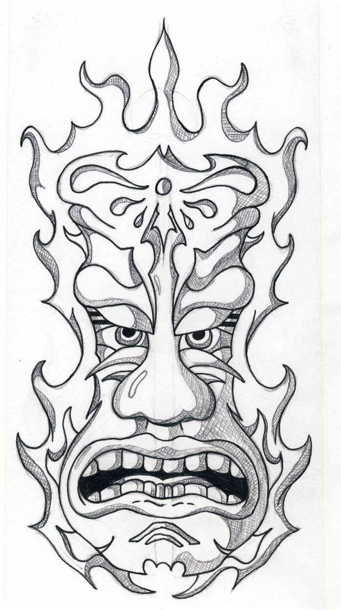 printable tiki mask coloring pages coloring home
