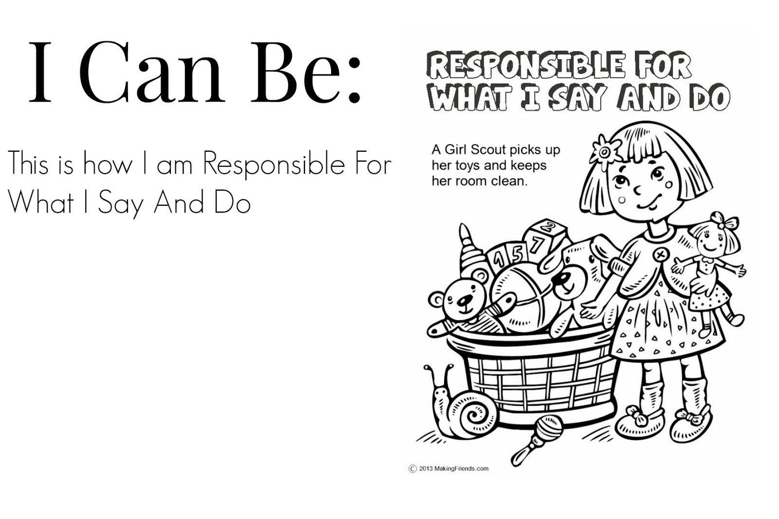 responsibility coloring pages - photo#18