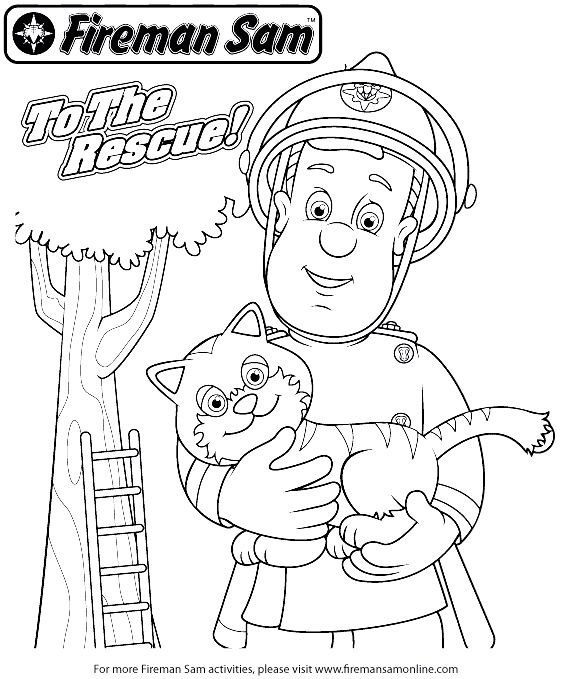 Fireman coloring book coloring home for Firefighter coloring pages printable