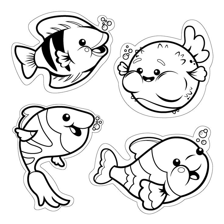 Fish Cut Out Template from coloringhome.com
