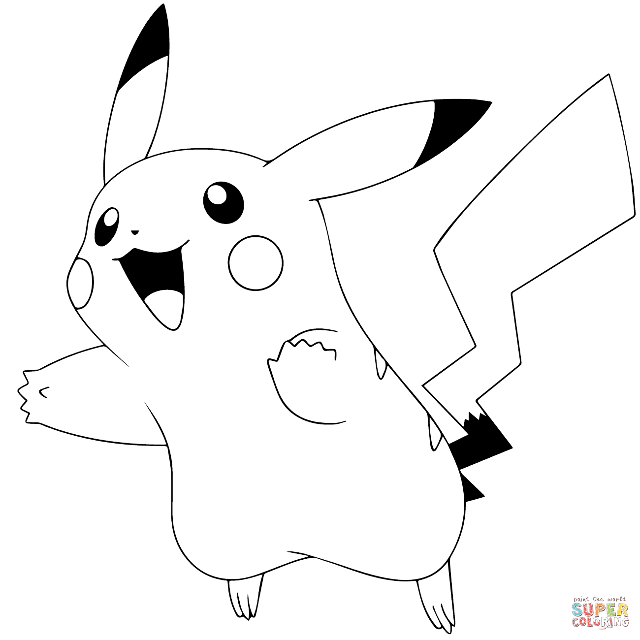 Pikachu coloring pages | Free Printable Pictures
