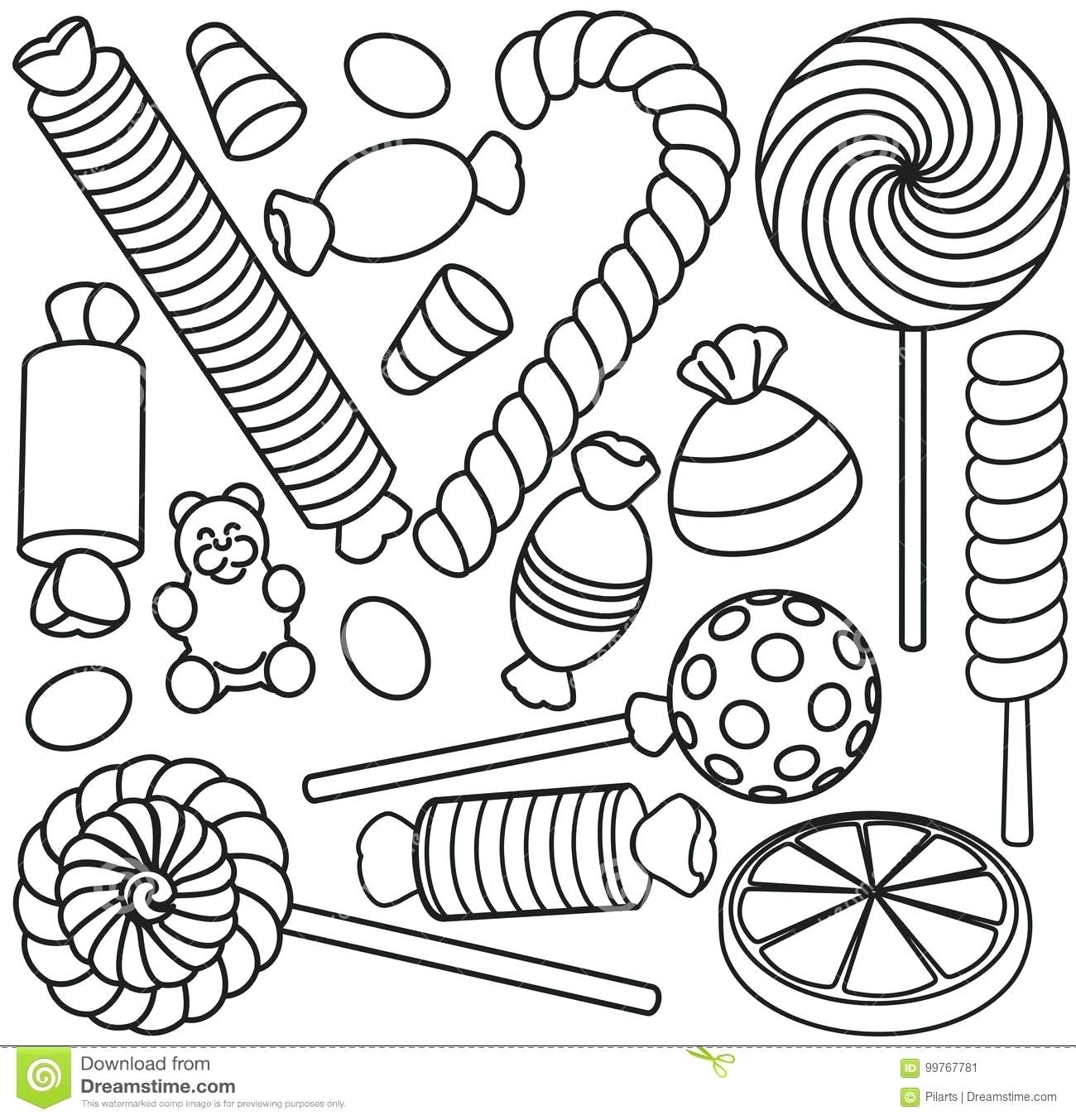 Sweets Coloring Pages Coloring Home