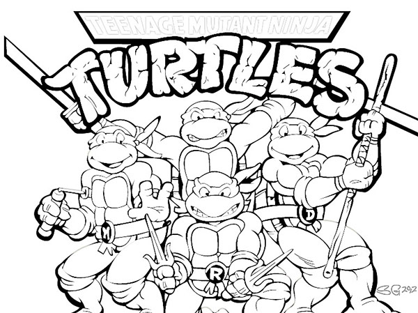 Teenage Mutant Ninja Turtles Color Sheets Teenage Mutant Ninja