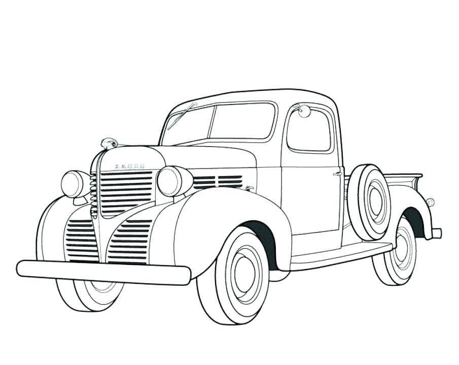 Chevy Truck Coloring Pages - Coloring Home