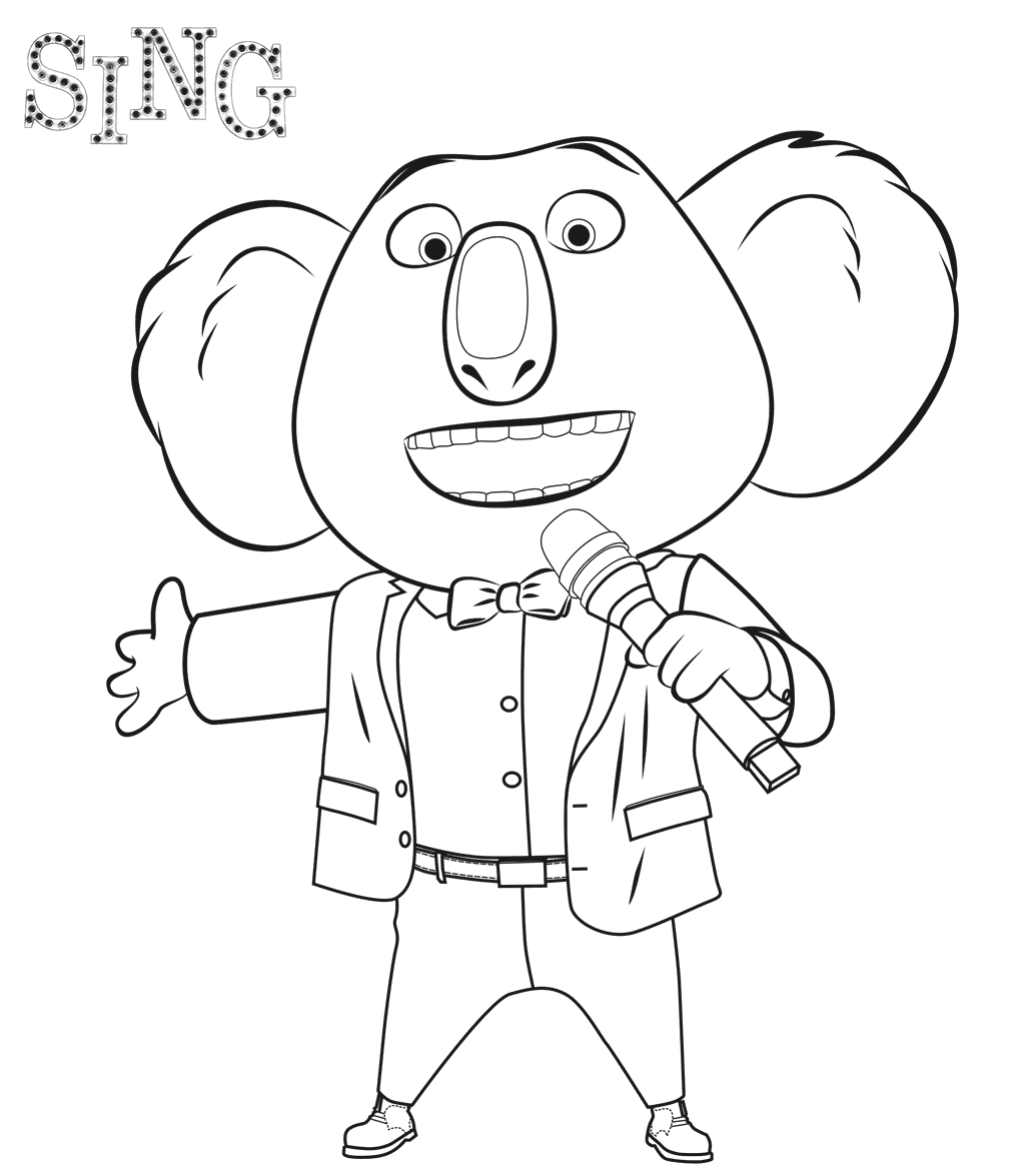 Sing Movie Coloring Pages - Coloring Home