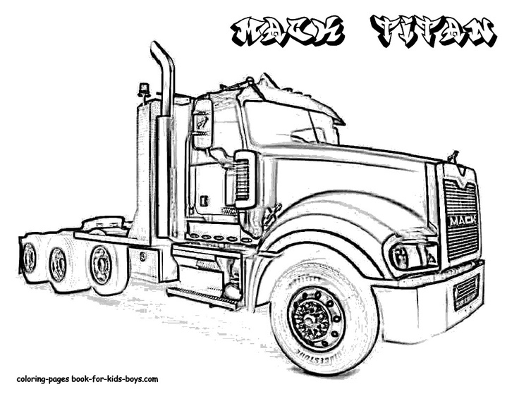 eighteen wheeler coloring pages - photo#20
