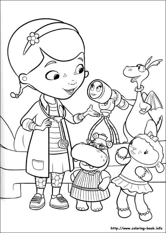 Doc mcstuffins coloring pages to print coloring home for Doc mcstuffins coloring pages to print