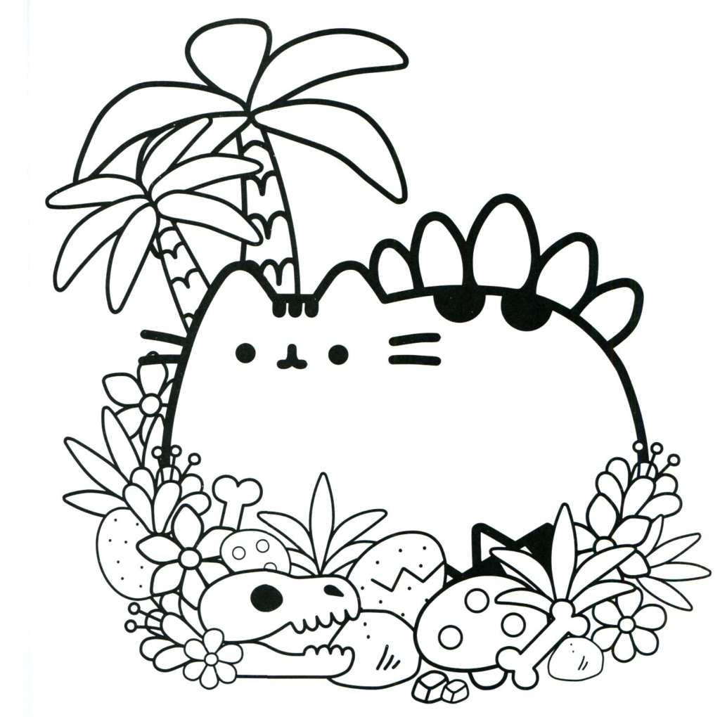 Coloring Pages : Coloring Incredible Pusheen Colouring Pages ...