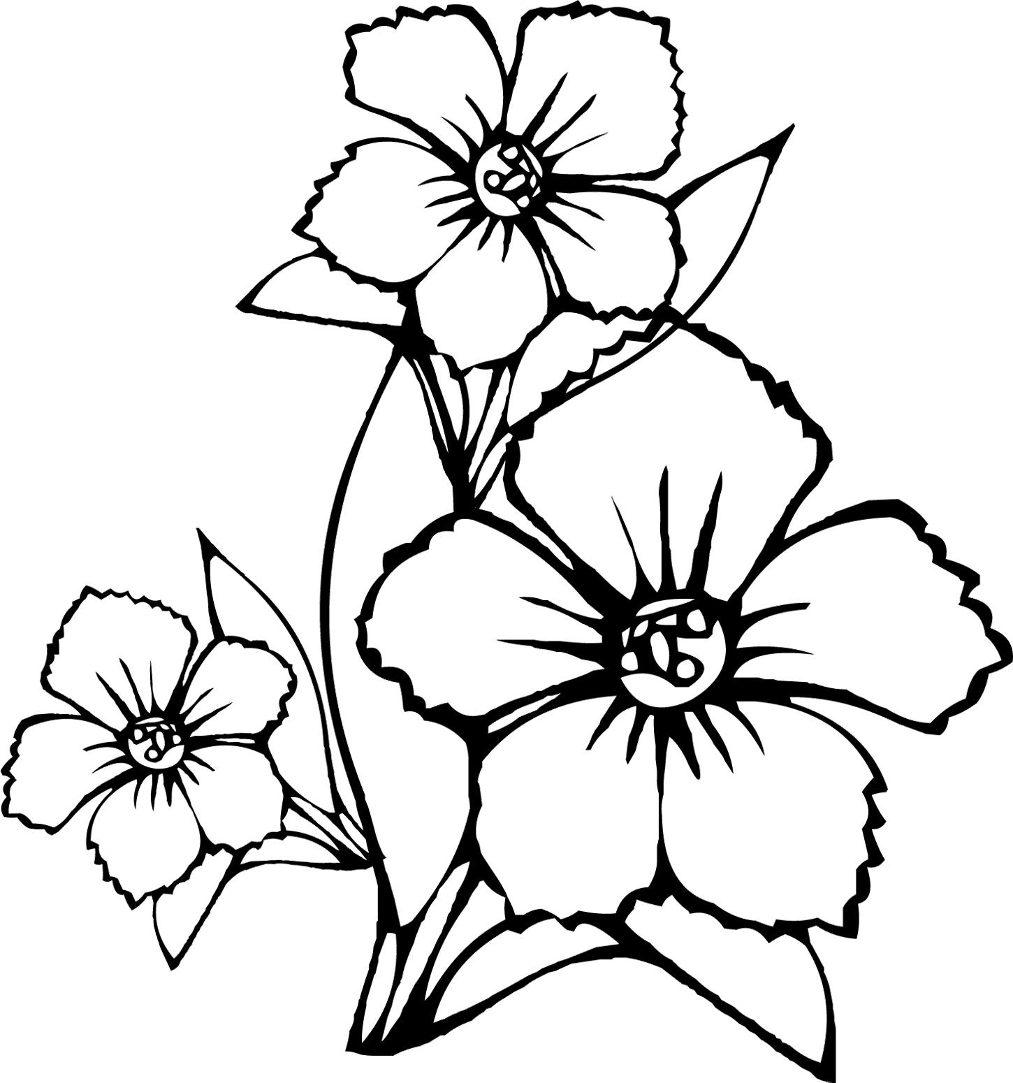 Tropical Flower Coloring Pages Flower Coloring Pages Coloring Coloring Home