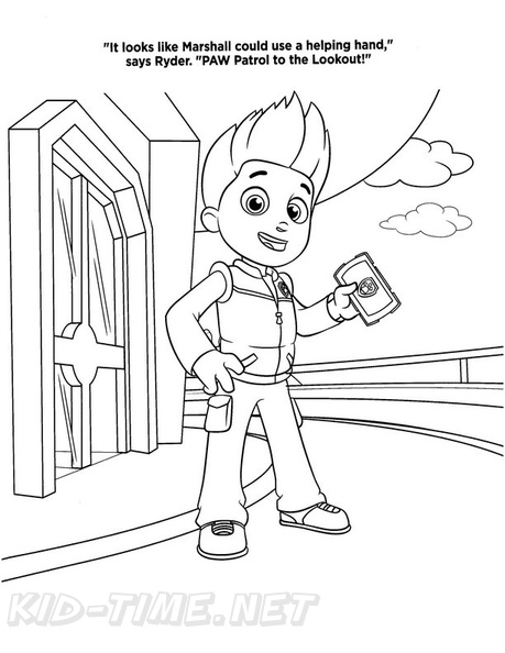 Ryder Paw Patrol Coloring Book Page | Free Coloring Book Pages ...