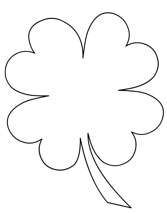 four leave clover coloring pages - photo#29