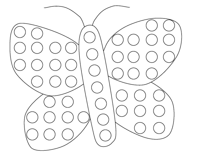 Butterfly Do A Dot Coloring Page 171 Funnycrafts Coloring Home Do A Dot Coloring Pages