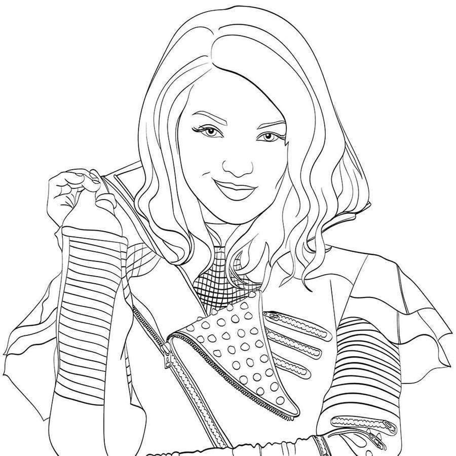 Coloring Pages : Coloring Pages Remarkable Descendants ...