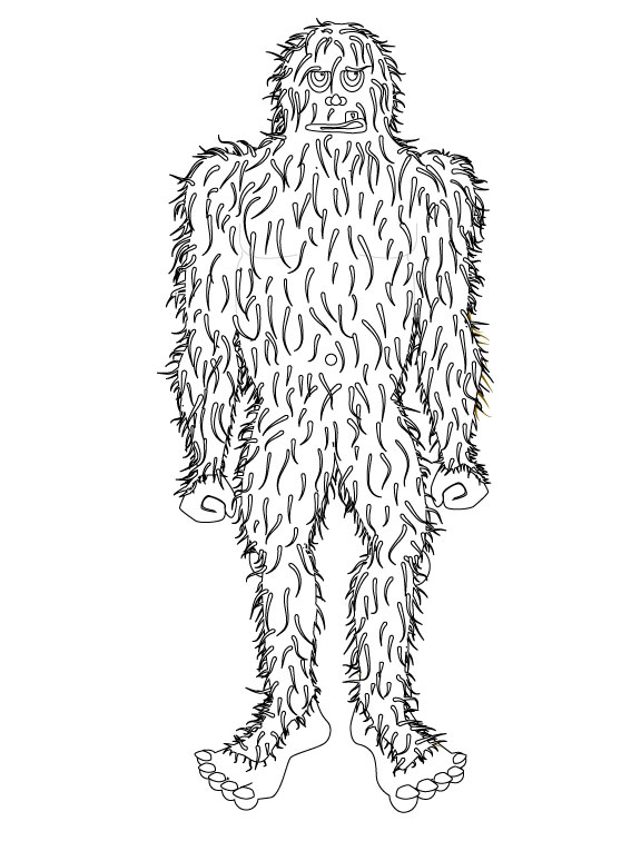 Bigfoot Coloring Pages Coloring Home