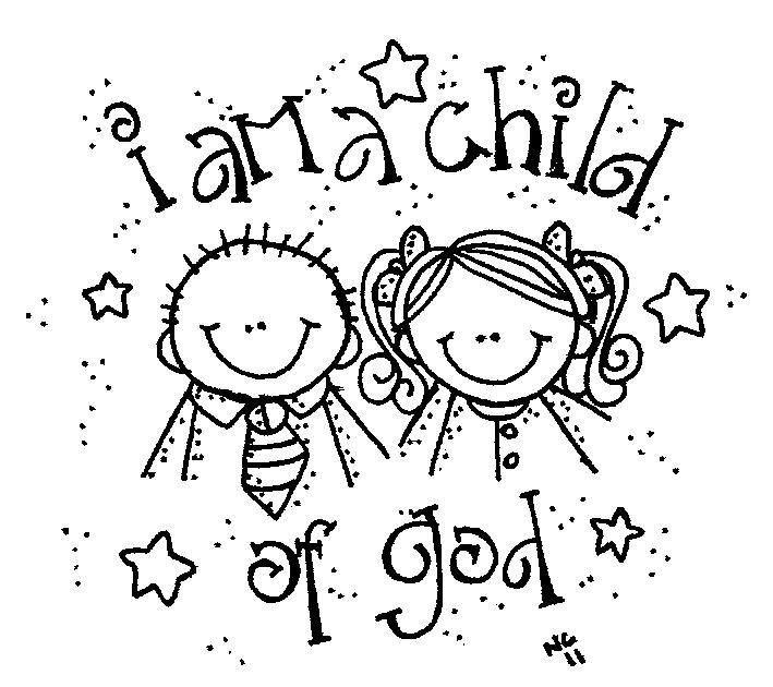 God Loves Me Coloring Page : Free Coloring - Kids Coloring ...