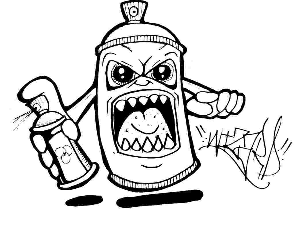 Grafitti Coloring Pages - Coloring Home