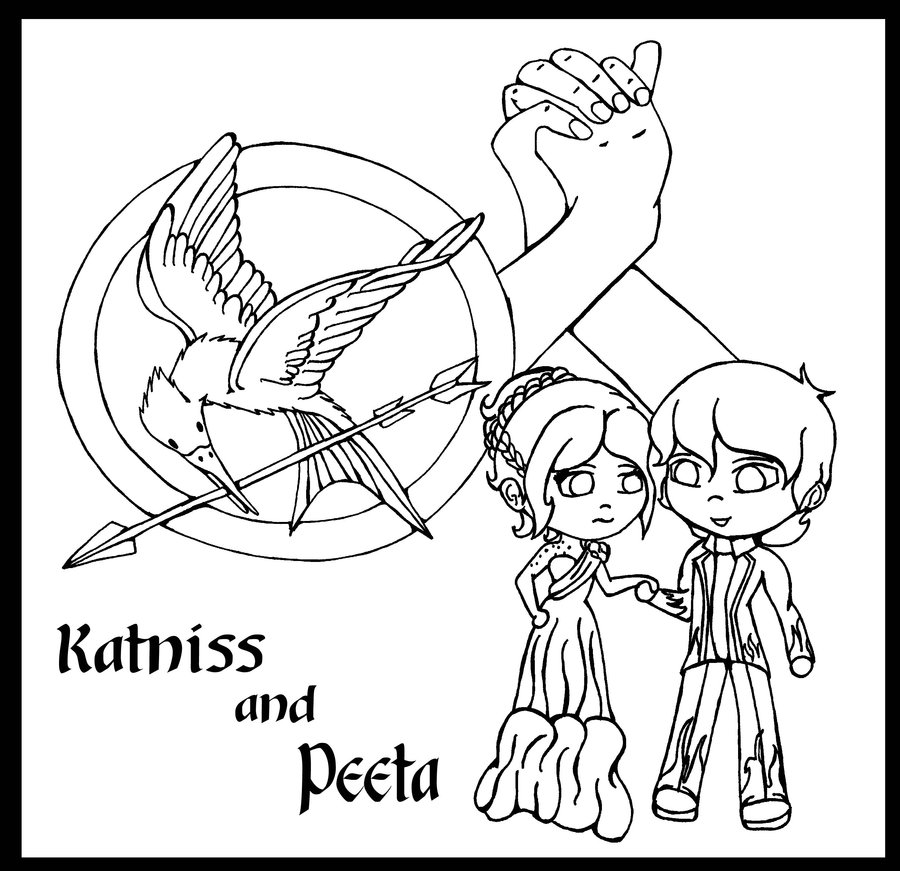 Mockingjay Hunger Games Coloring Pages Coloring Home